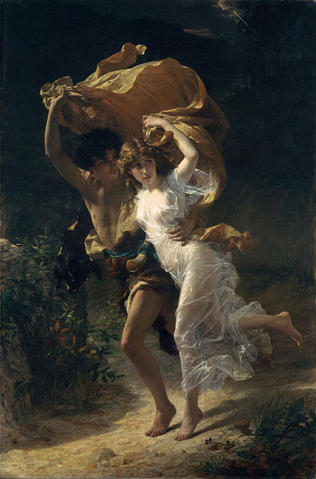 1880, Pierre Auguste Cot: The Storm