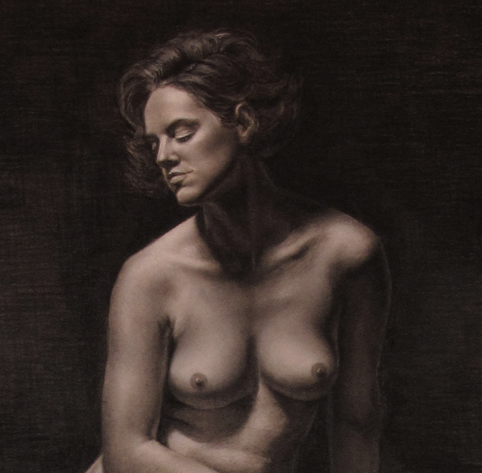 'Seated Nude', Detail