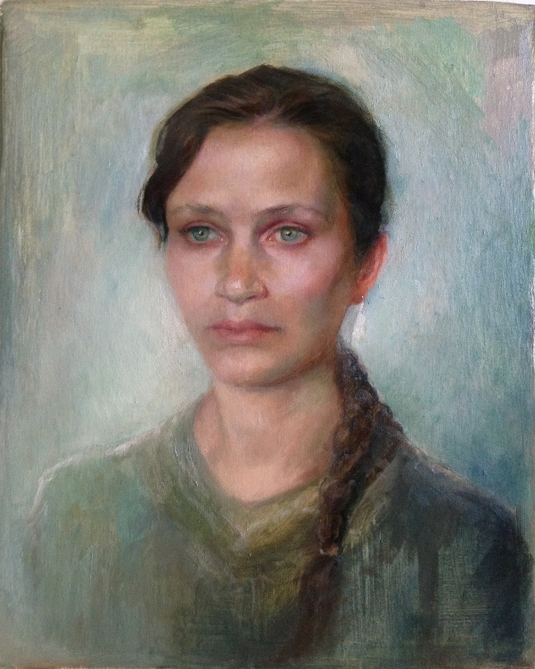 Portrait of Sharon, 12''X17''  Oil on Board