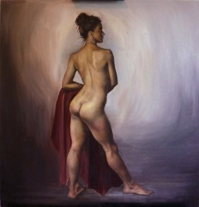'Katrina', Oil on Board