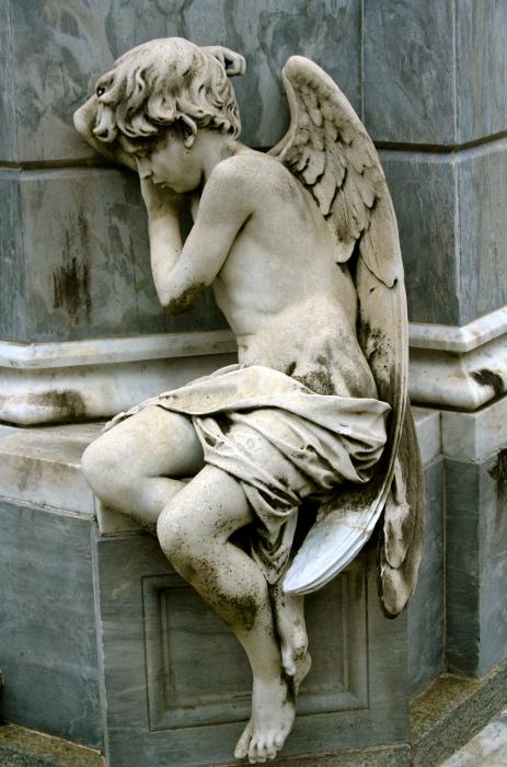 A Statue at La Recoleta Cemetery