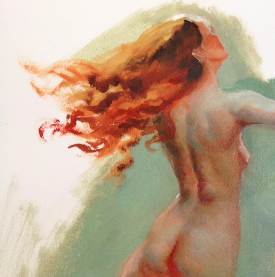 Figure Study in Oil