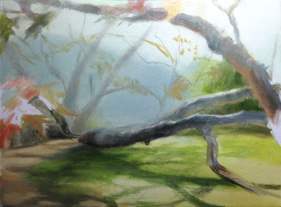 Study of a tree in oil
