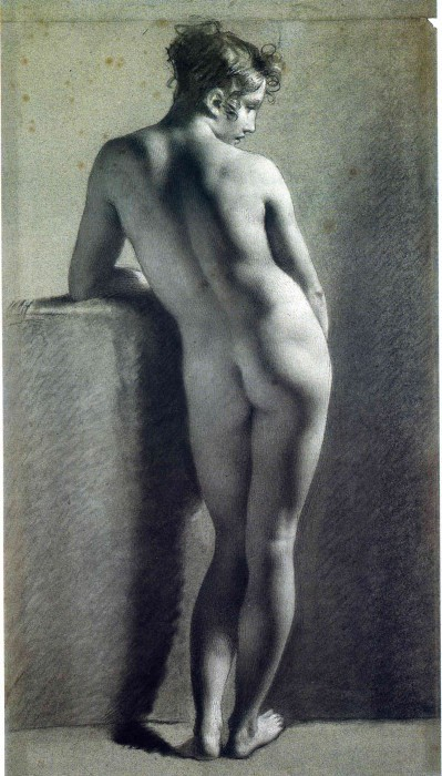 Nude Viewed from Behind, Pierre-Paul Prud'hon